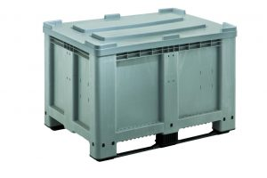 GoBox 1208 BBCJ rigid pallet container with lid attached