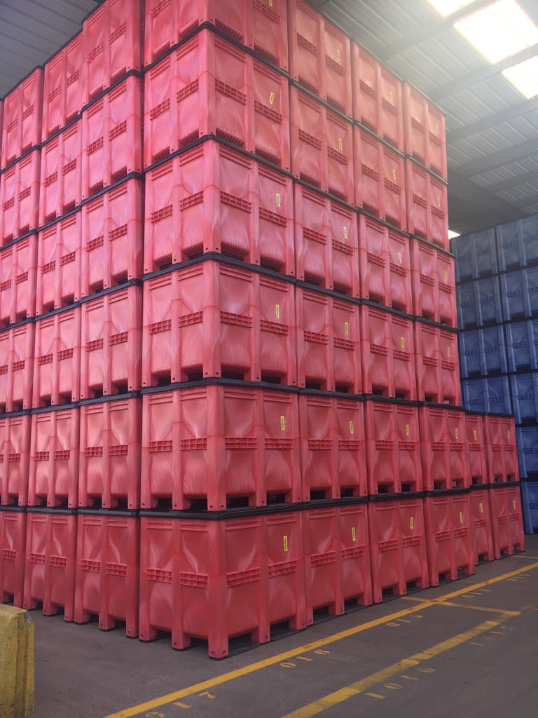 GA ordered 19,750 of the plastic pallet boxes in three different colours – together the boxes offer a tremendous storage capacity of 27.65 million litres.