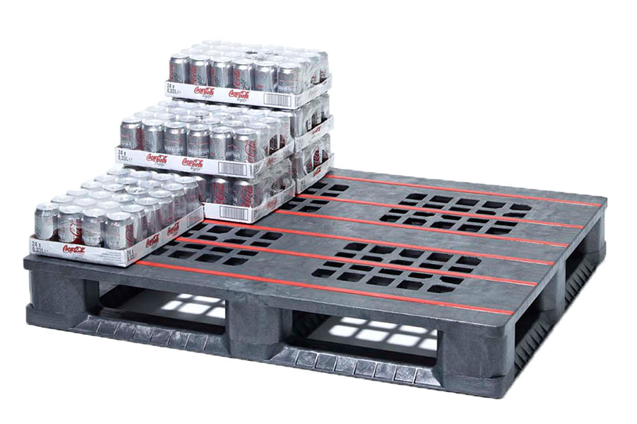 Plastic beverage pallets cut costs and breakages