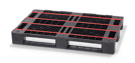 Enhanced plastic Euro pallet outperforms its wooden rival