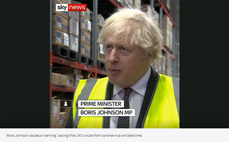 PM Boris Johnson spotted with our Plastic Pallets!