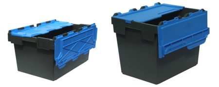 Goplasticpallets.com expands small box range with new two-colour attached lid containers