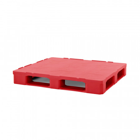 red hygienic plastic pallet