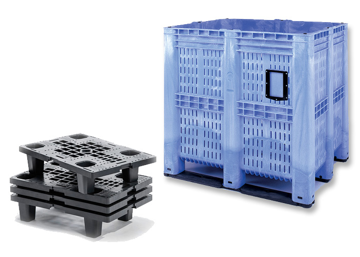 Plastic Pallets & Pallet Boxes: Solid, Perforated or Open Deck